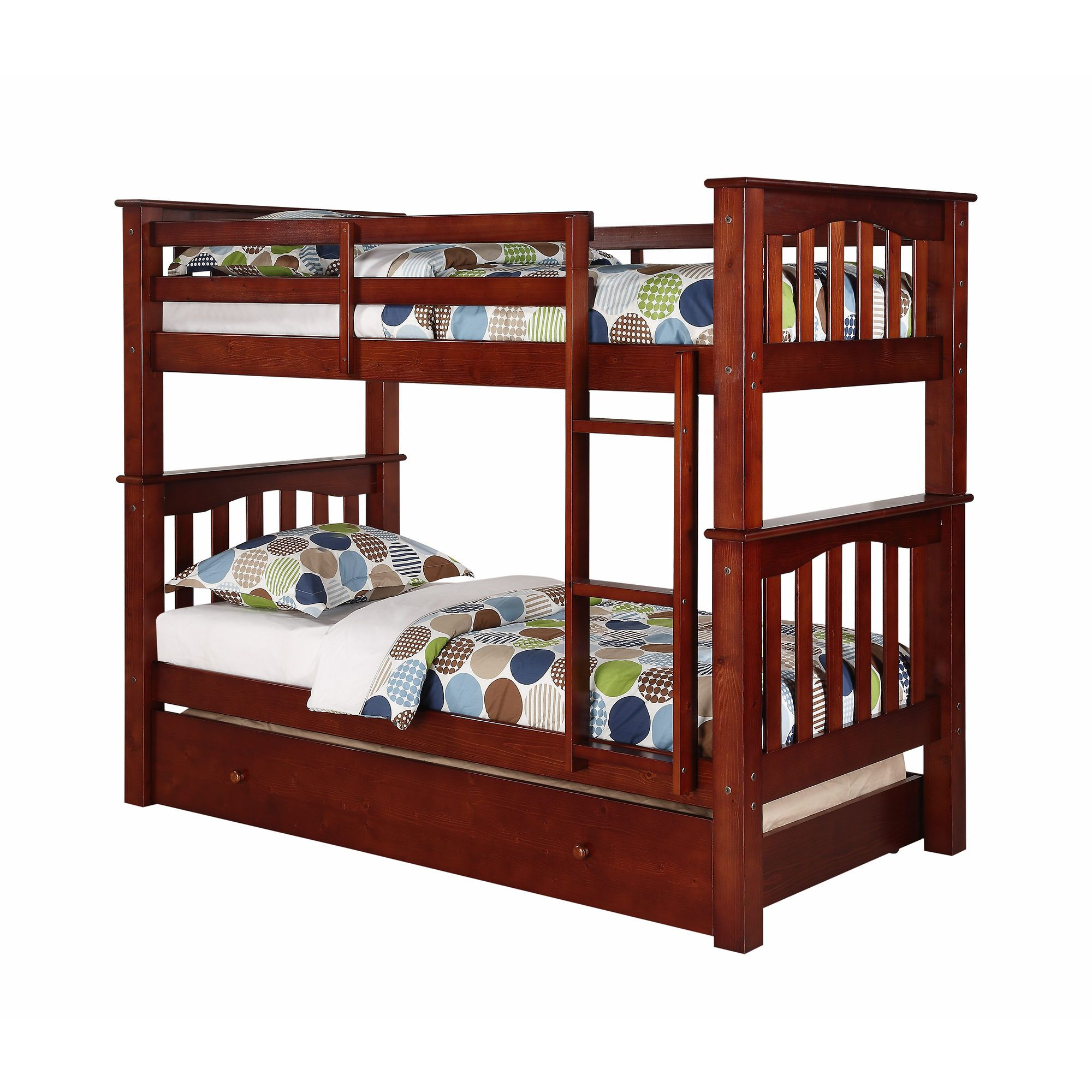 Berkley Jensen Twin Size Bunk Bed With Trundle This Is The Bed I Wanted To Get For Makayla But It Is Diy Bunk Bed Bunk Bed With Trundle Queen Bunk Beds