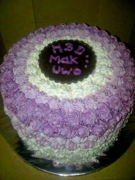 CARA MEMBUAT KUE ULANG TAHUN PURPLE OMBRE CAKE Baca Resep cake