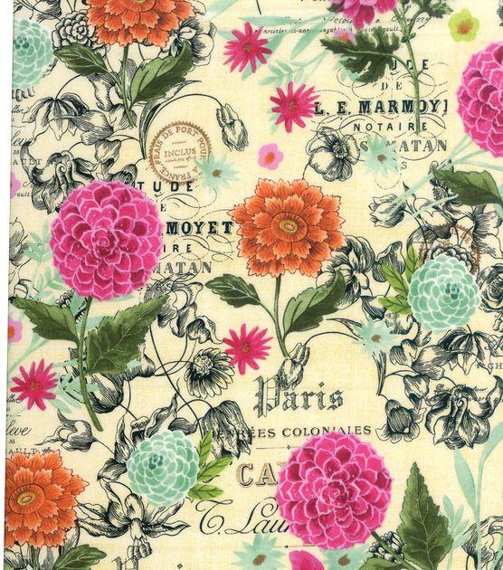 Keepsake Calico Cotton Fabric Jardin Botanique Calico Fabric