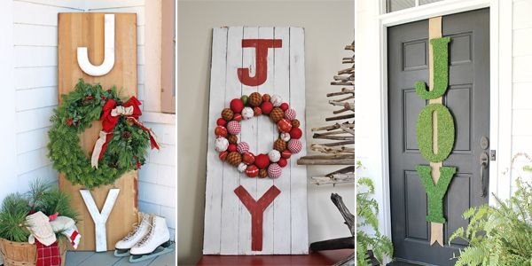 25 best diy christmas joy signs
