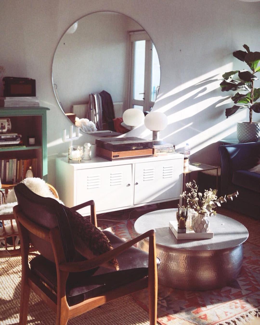 Large Round Mirror Skando Living Room Mid Century Danish Chairs Blue Velvet Sofa Living Room Mirrors Round Dining Room Mirror Dining Room