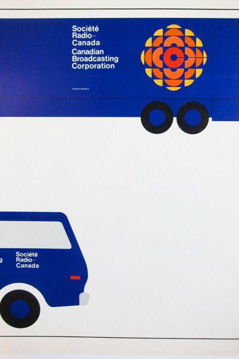 Truck, Canadian Broadcasting Corporation, visual identification programme (viadominionmodern) Design: Burton Kramer