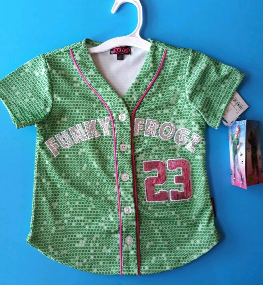 15e18364fa76 eBay  Sponsored Girls JOJO Siwa Shirt Size Small 6 6x Green FUNKY ...