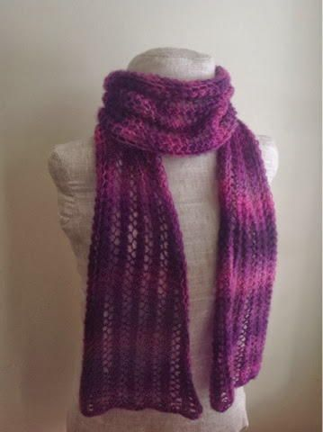 Lacy Spring Fuchsia Scarf Knitted Scarf Patterns Cowls
