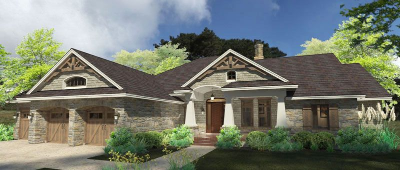 3 Bedrooms And 3 Baths House Plan 9167 Direct From The Designers Craftsman House Ranch House Plans House Blueprints