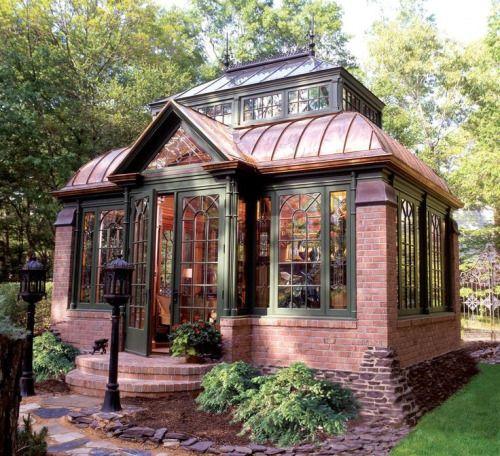 brick and glass housse serre en briques et verre inspiration jardin pinterest briques. Black Bedroom Furniture Sets. Home Design Ideas