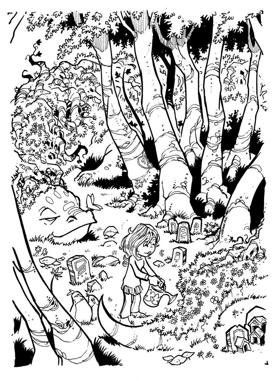 Monster And Dame Inks By Travisjhanson Deviantart Com On Deviantart
