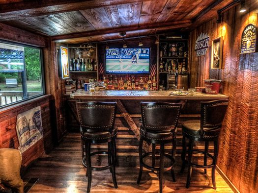 Lovely Small Man Cave Bar