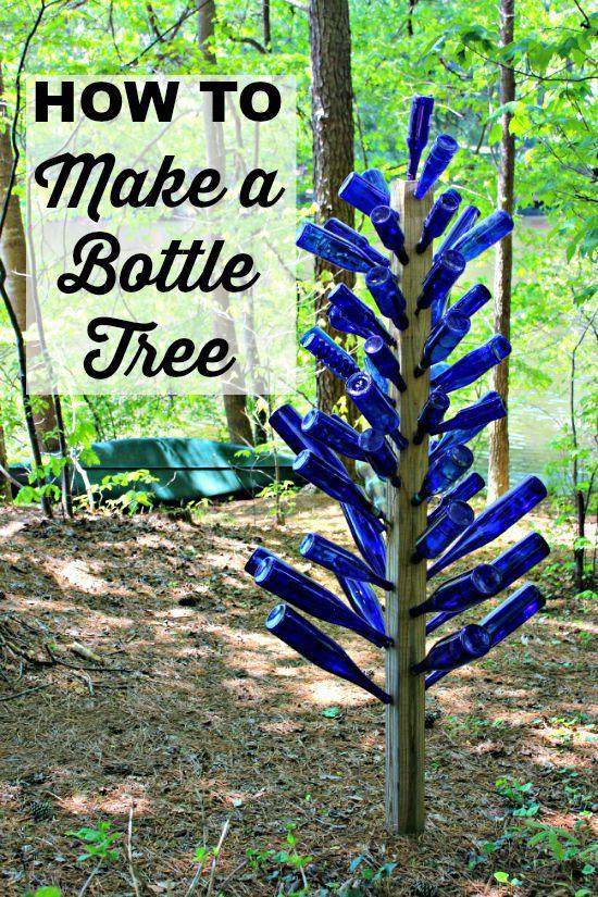 Mom 39 s garden blue bottle tree frascos decoraci n for Decoracion jardin gnomos