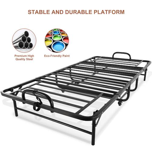 Twin Size Rollaway Bed For Adults 5 Inch Memory Foam Mattress 280