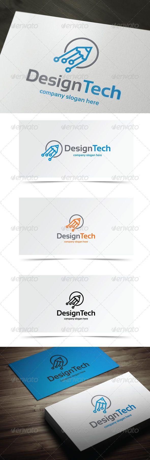 Design Tech Logo templates, Vector logo