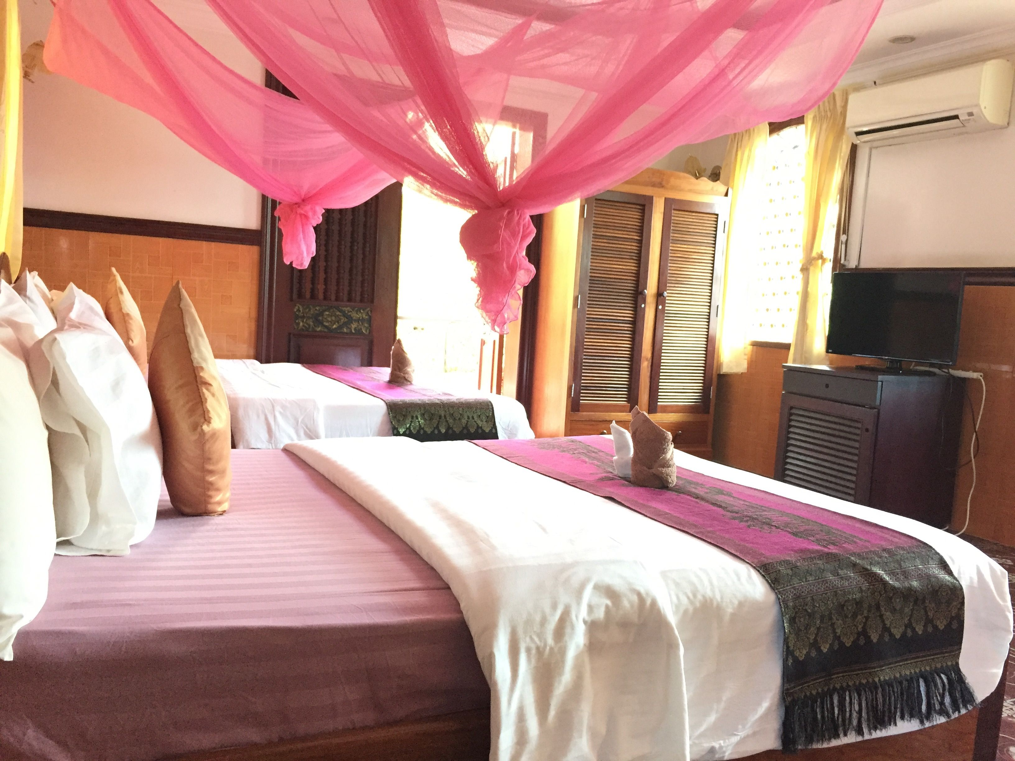 Luxury Twin sleeps 4 people at River Village Manor Guesthouse in Siem Reap