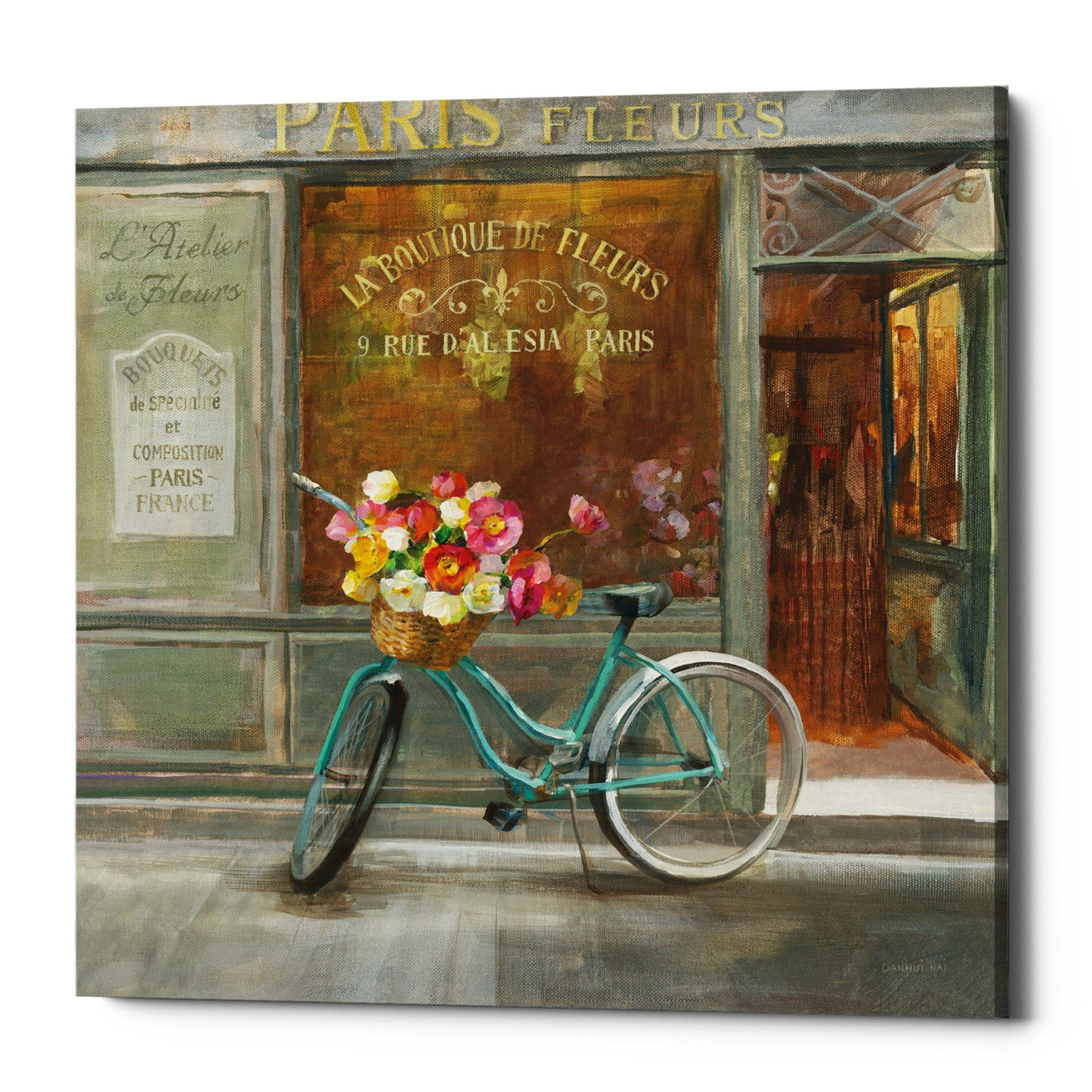 Giclee Canvas Wall Art Epic Graffiti /'Parisian Flowers II/' by Danhui Nai