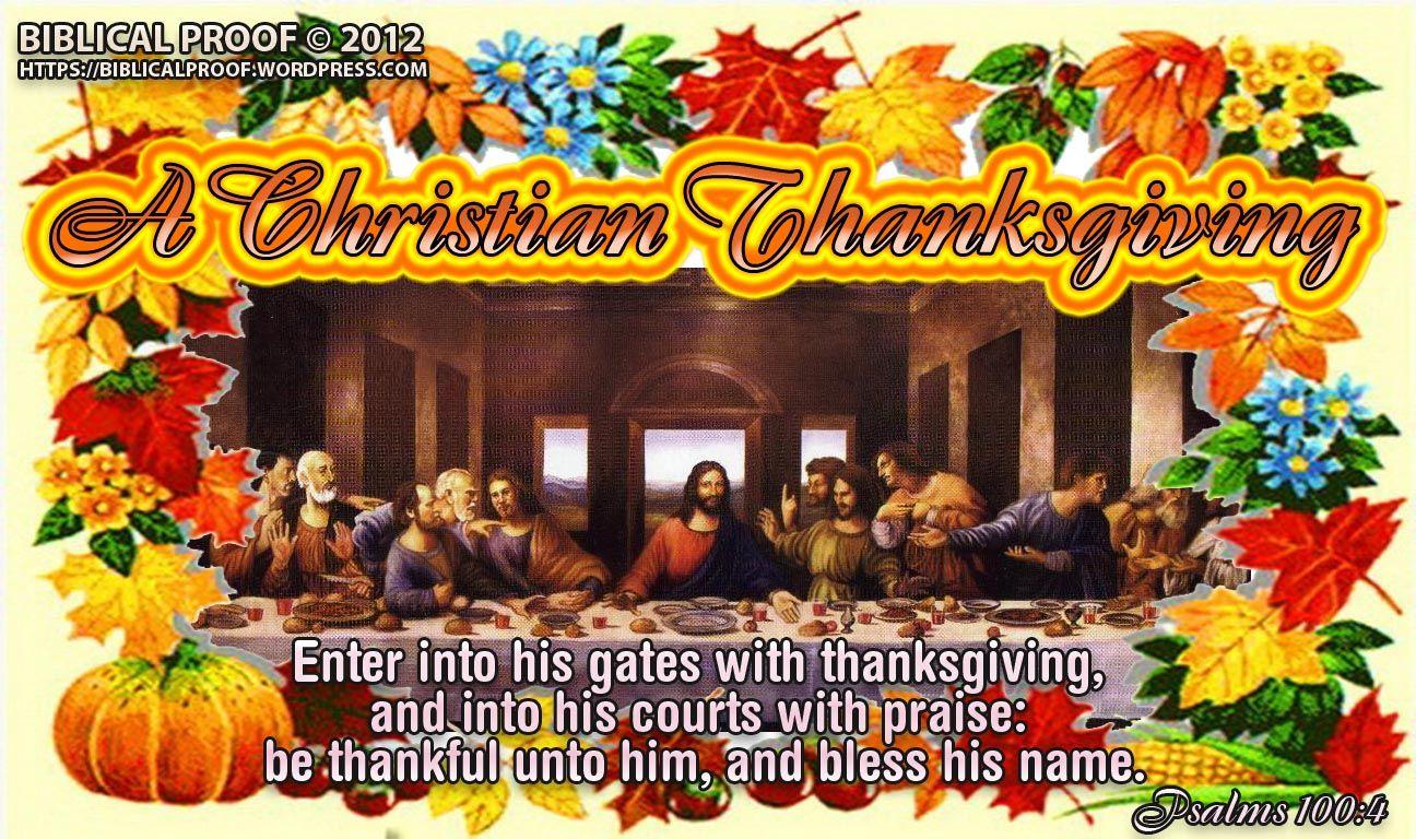 A Christian Thanksgiving Christian