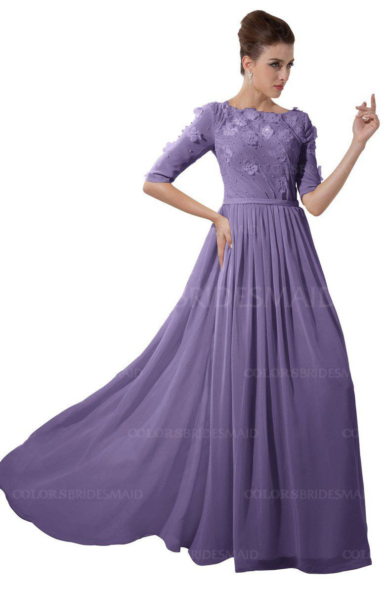 1e0f3e239f5 Chalk Violet Casual A-line Sabrina Elbow Length Sleeve Backless Beaded  Bridesmaid Dresses (Style D13387)  violet2018  violetbridesmaiddress