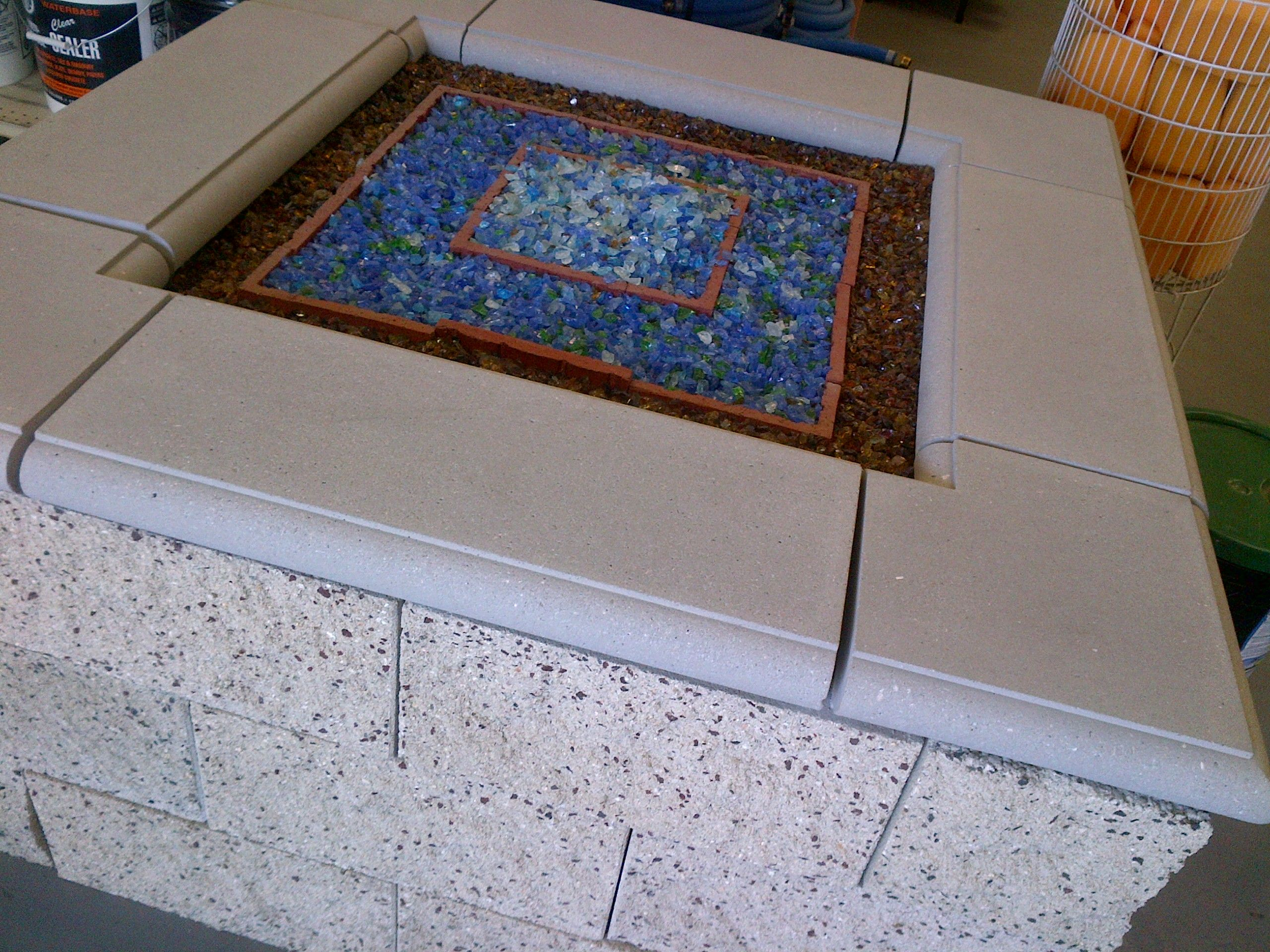 fire glass bahama blend pacific blend amber fire pit and