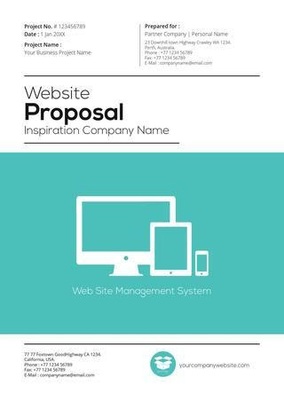 Website Proposal Template | Gstudio Web Proposal Template V2 Teal Color Presenting