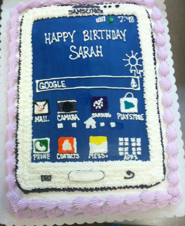 Cell Phone Cake With Images Birthday Cake Decorating Amazing