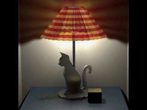 3ds Max Realistic Lamp Shade Cast Light Through Shade Onto Wall