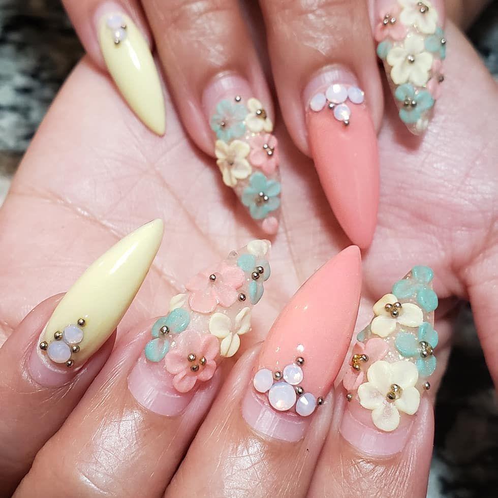 Addi On Instagram 4 Week Growth Swipe Left For Transformation Same Set Btw Nails Nailart Nailswag Nailar Best Nail Art Designs Swag Nails Nail Art