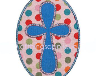 Rounded Cross Applique Designs Includes 3 Designs and 3 Sizes