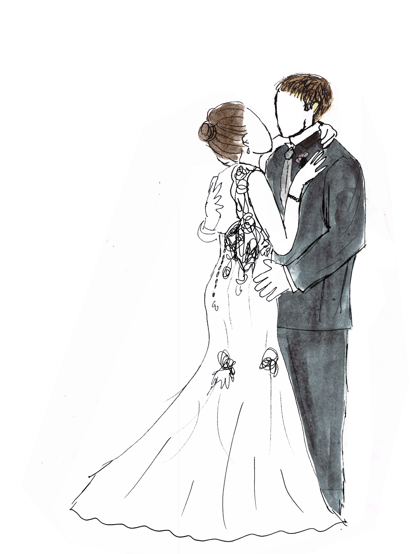 Рисунок свадьба карандашом, картинки анимации