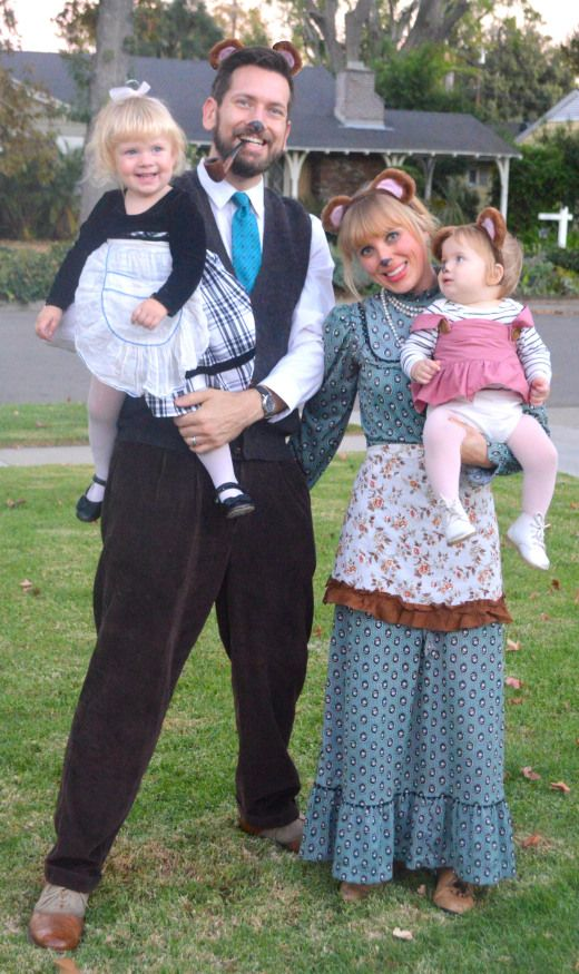 Halloween Costumes For Family Of 3 With A Baby.Diy Goldilocks The Three Bears Costumes Halloween