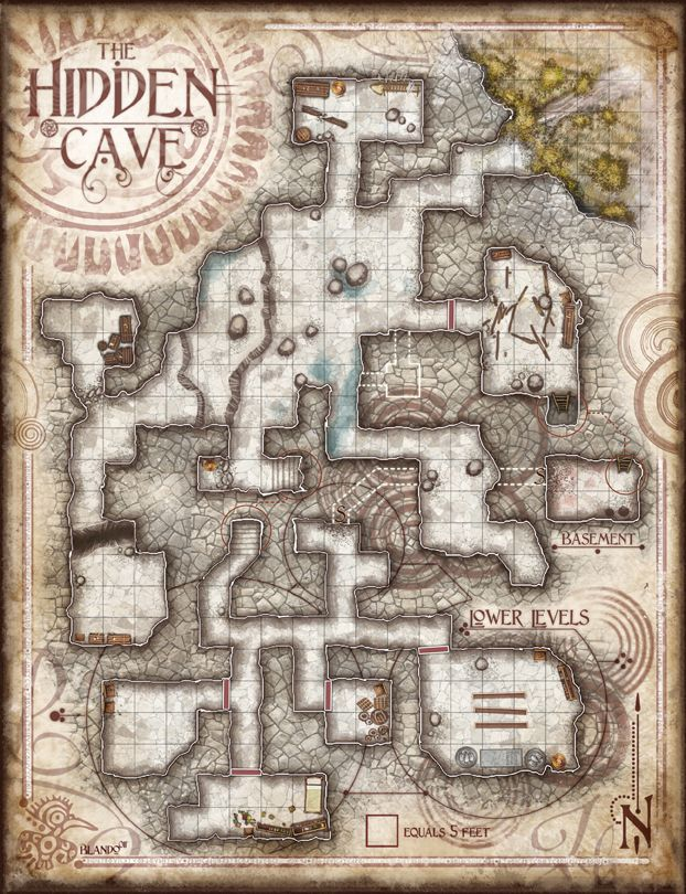 The Hidden Cave 72dpi Fantasy Floor Plans in 2019