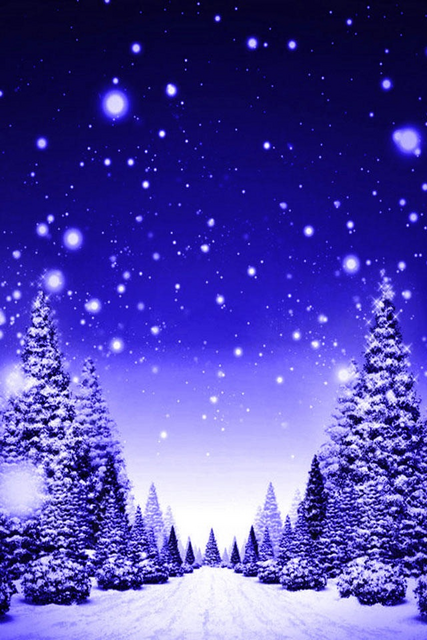 Sfondi Invernali Natalizi.Strada Alberata Durante Una Nevicata Festivita Sfondi Per