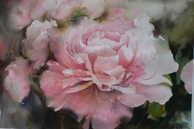 Daniele Fabre Peinture Fleurs Art Floral Et Aquarelle Rose