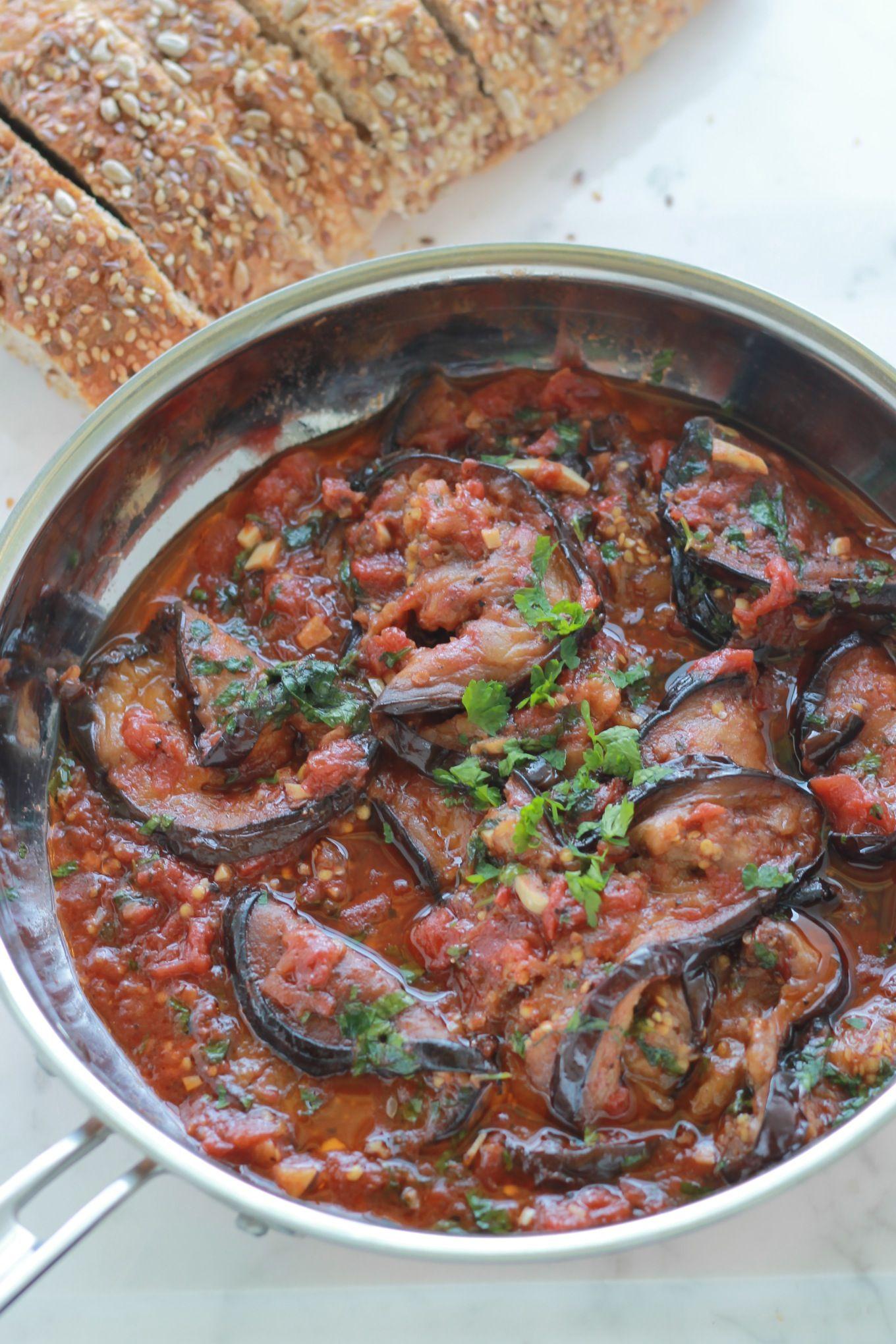 Aubergines sauce tomate Recipe