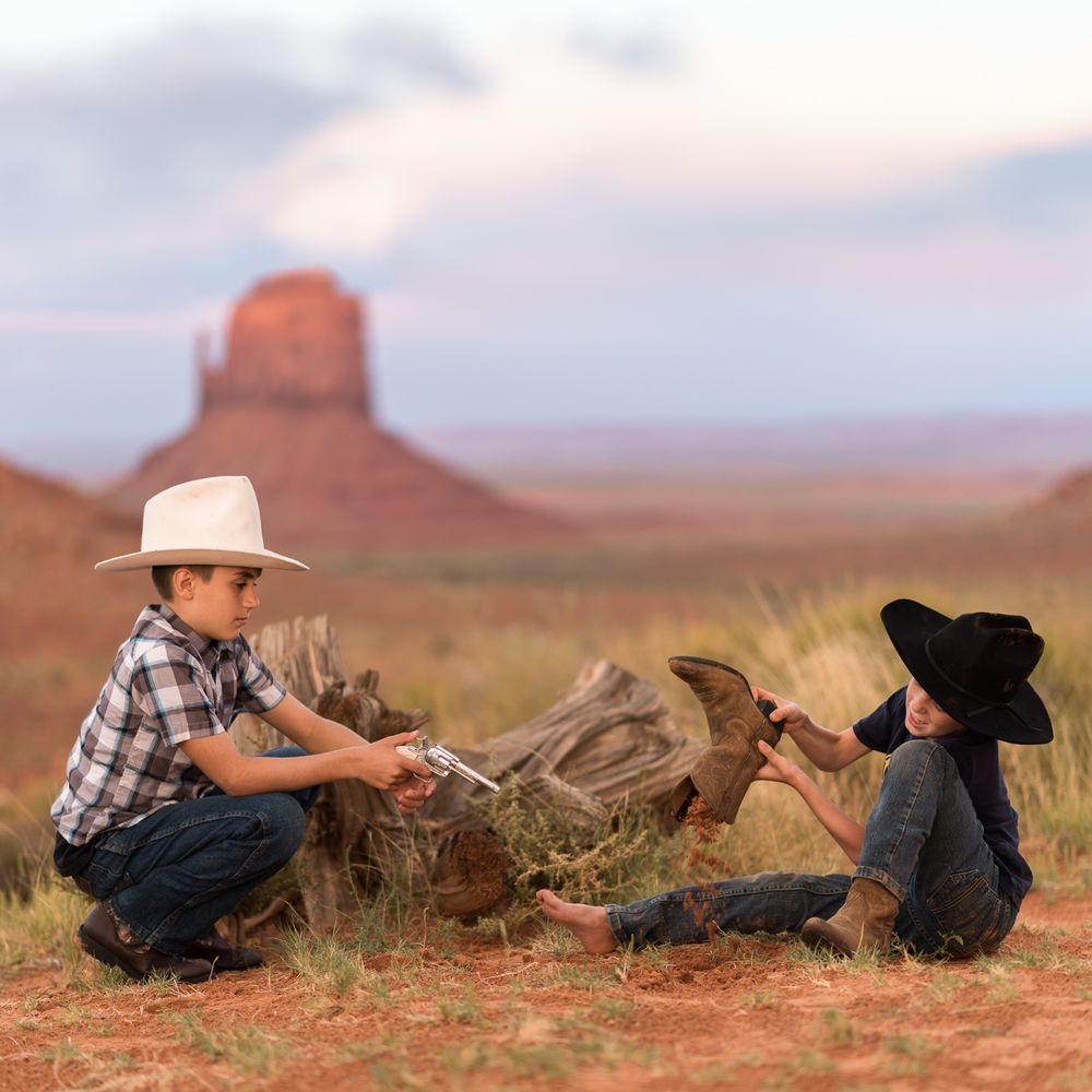 """The Cowboy Way""  -Monument Valley"