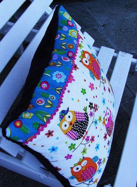 Patchwork,Kissen,  Dekoration, .. von Meine bunte Flickenecke auf DaWanda.com
