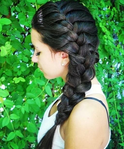 side french braided hairstyles