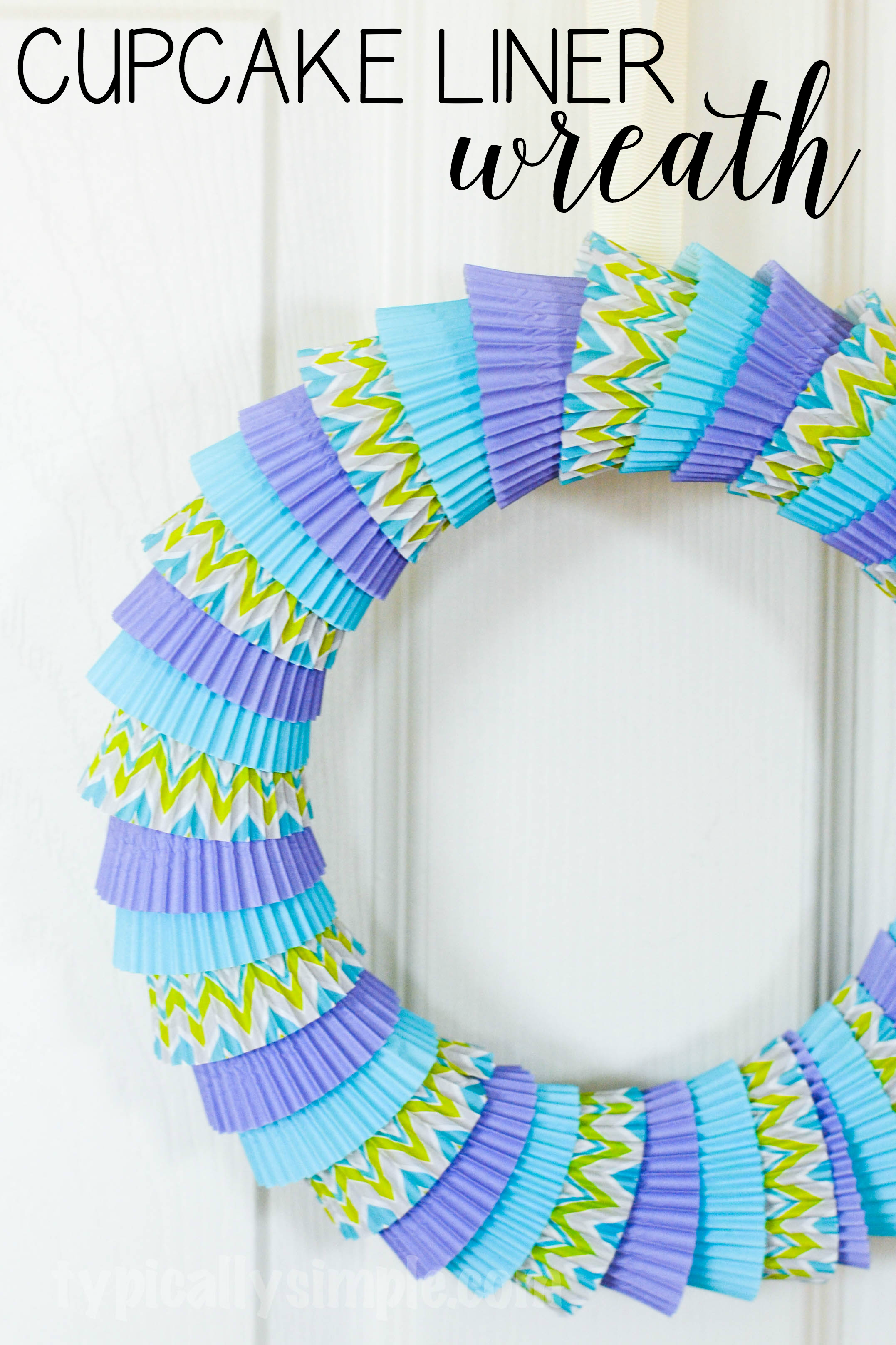 Cupcake Liner Wreath Your Craft