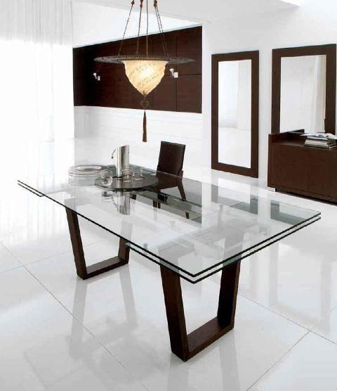 Mesa de crital con patas en negro | Hogar en 2019 | Glass dinning ...