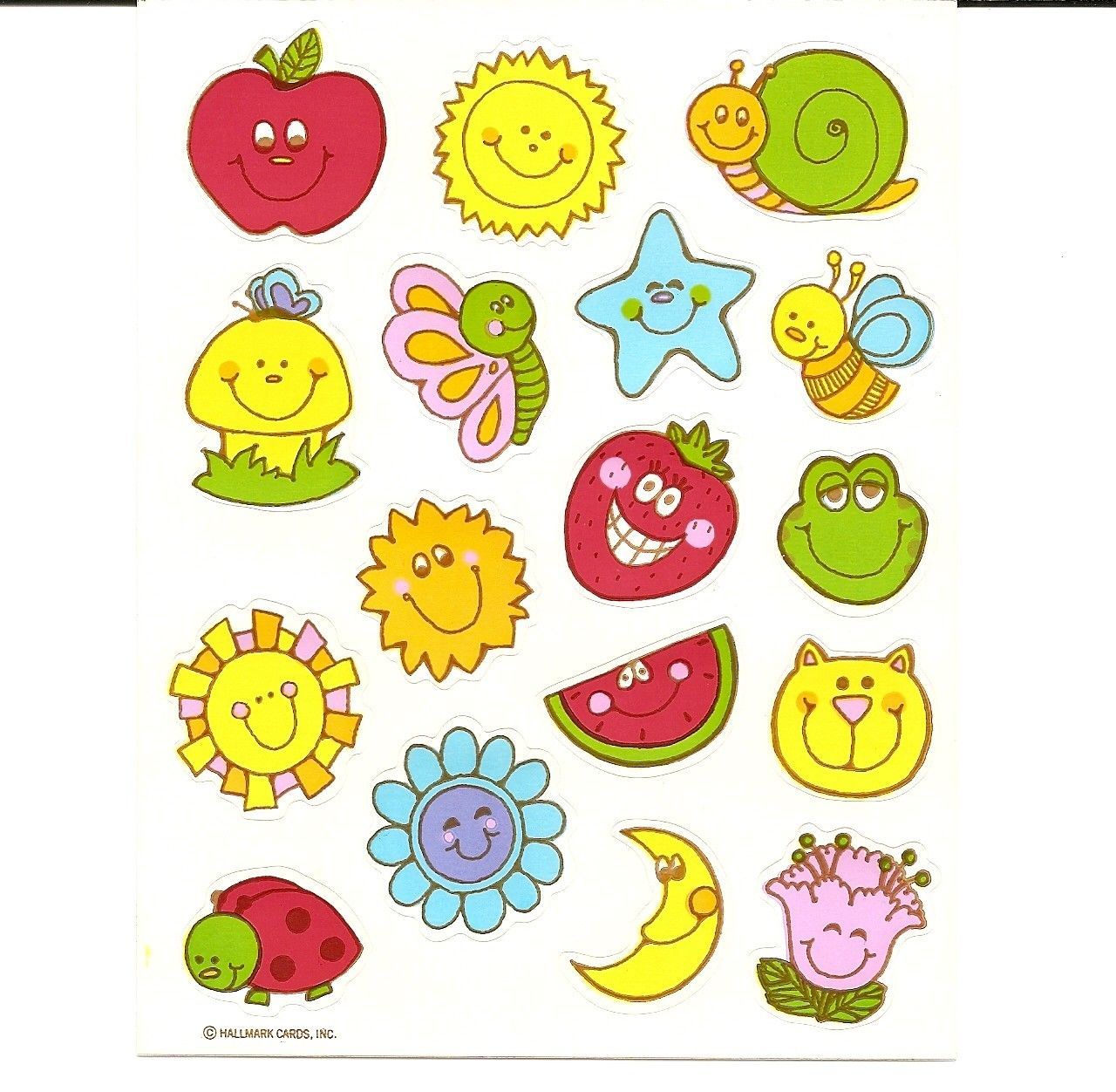 Vintage Hallmark Stickers Sheet I Had These We Would Buy Packs
