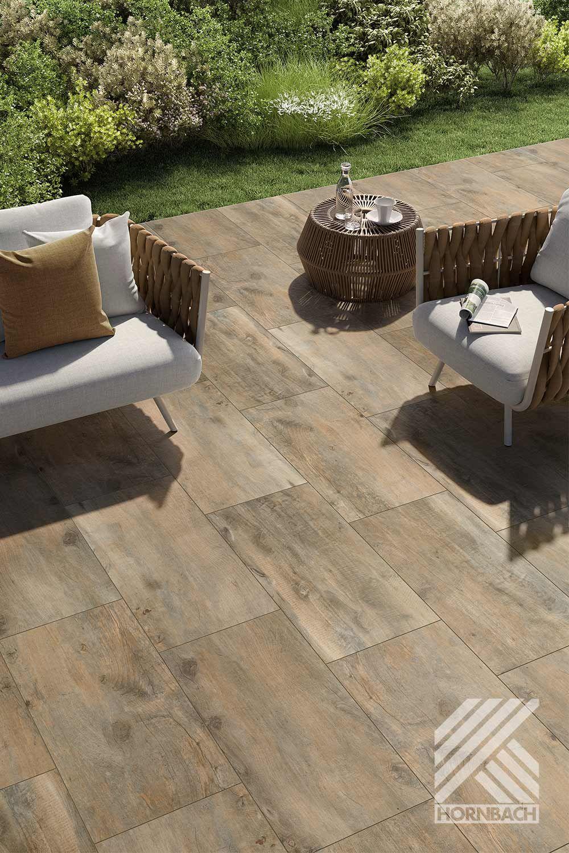 Flairstone Feinsteinzeug Terrassenplatte Wood Light Brown 90x45x2cm Rektifizierte Kante Bei Hornbach Kaufen In 2020 Terrassenplatten Fliesen Terrasse Bodenbelag Terrasse