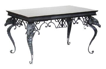 Genial Gothic Dragon Furniture | Dragon Coffee Table With Dragon Head On All 4  Corners
