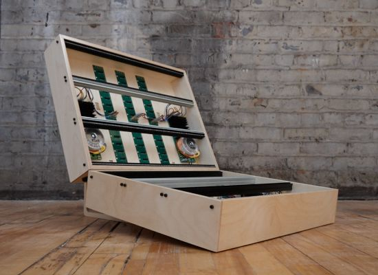 One-of-a-kind expandable #Eurorack modular case on a