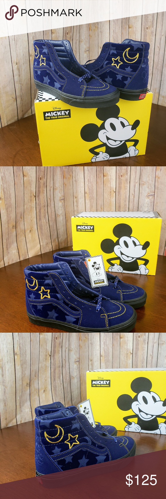 New Van s Sk8-Hi Disney Sorcerer s Appre Brand New with Oh boy! Vans and  Disney return with a full collection of footwear and apparel to celebrate  the 90th ... dadeb16990f