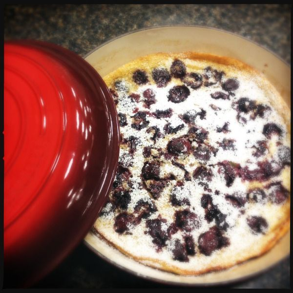 Clafouti made from Julia Childs recipe by Trippingvittles.com