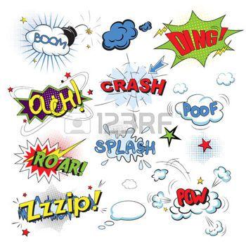 Comic Strip Template Comic Colored Speech Bubbles In Pop Art