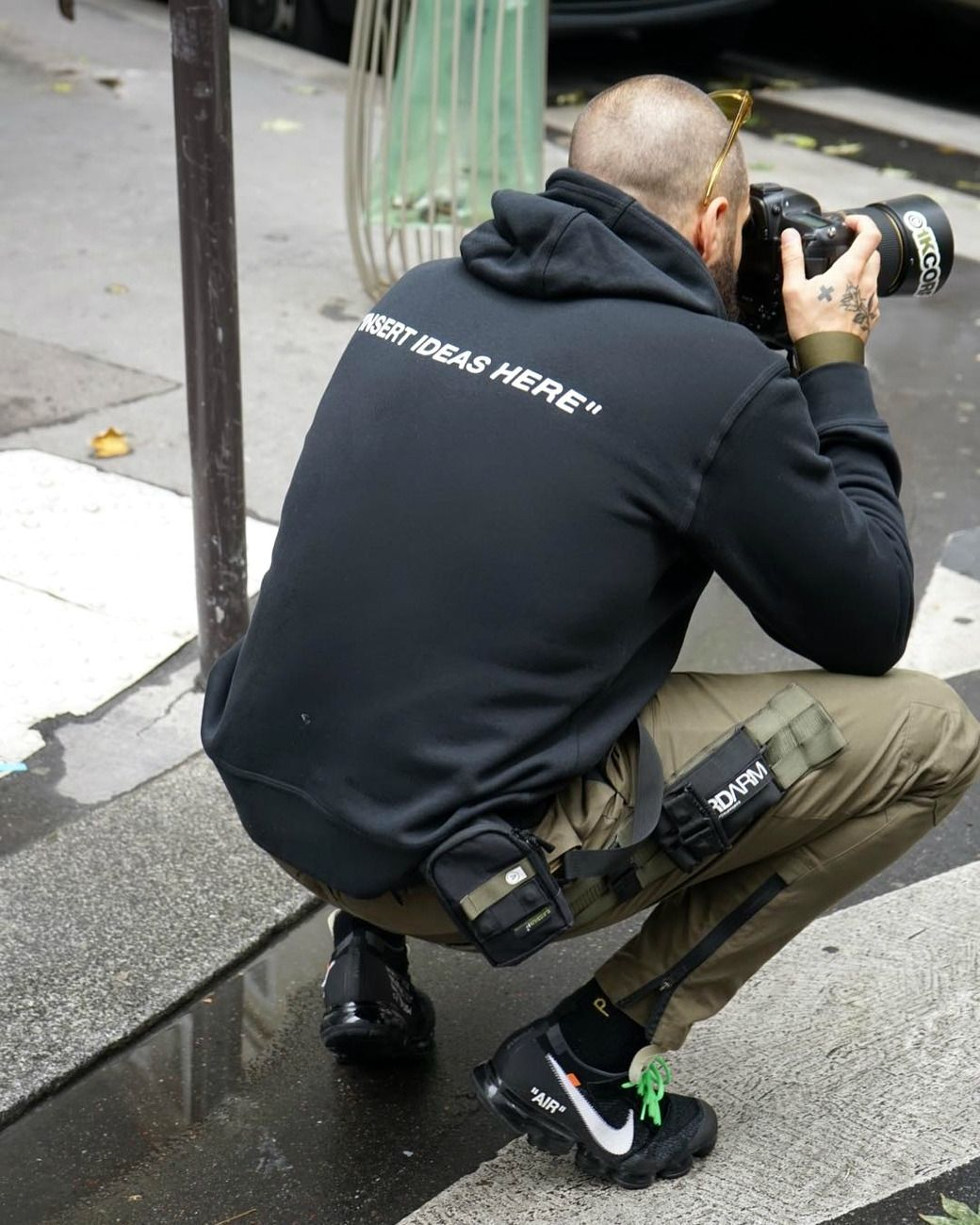 "4f3b3074e15937 TRIYO — Kratz Off-White x Nike ""Off Campus"" NYC Hoodie... | techwear ..."