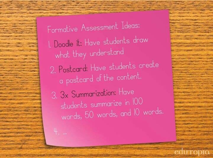 Formative assessment ideas via Edutopia *Pin now, check it out
