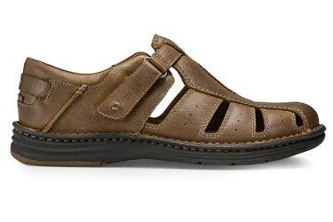 dunham revchamp tan  mens leather sandals mens casual