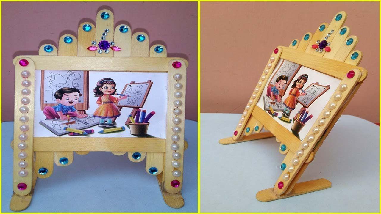 Easy Photo Frame With Popsicle Ice Cream Sticks Room Decor