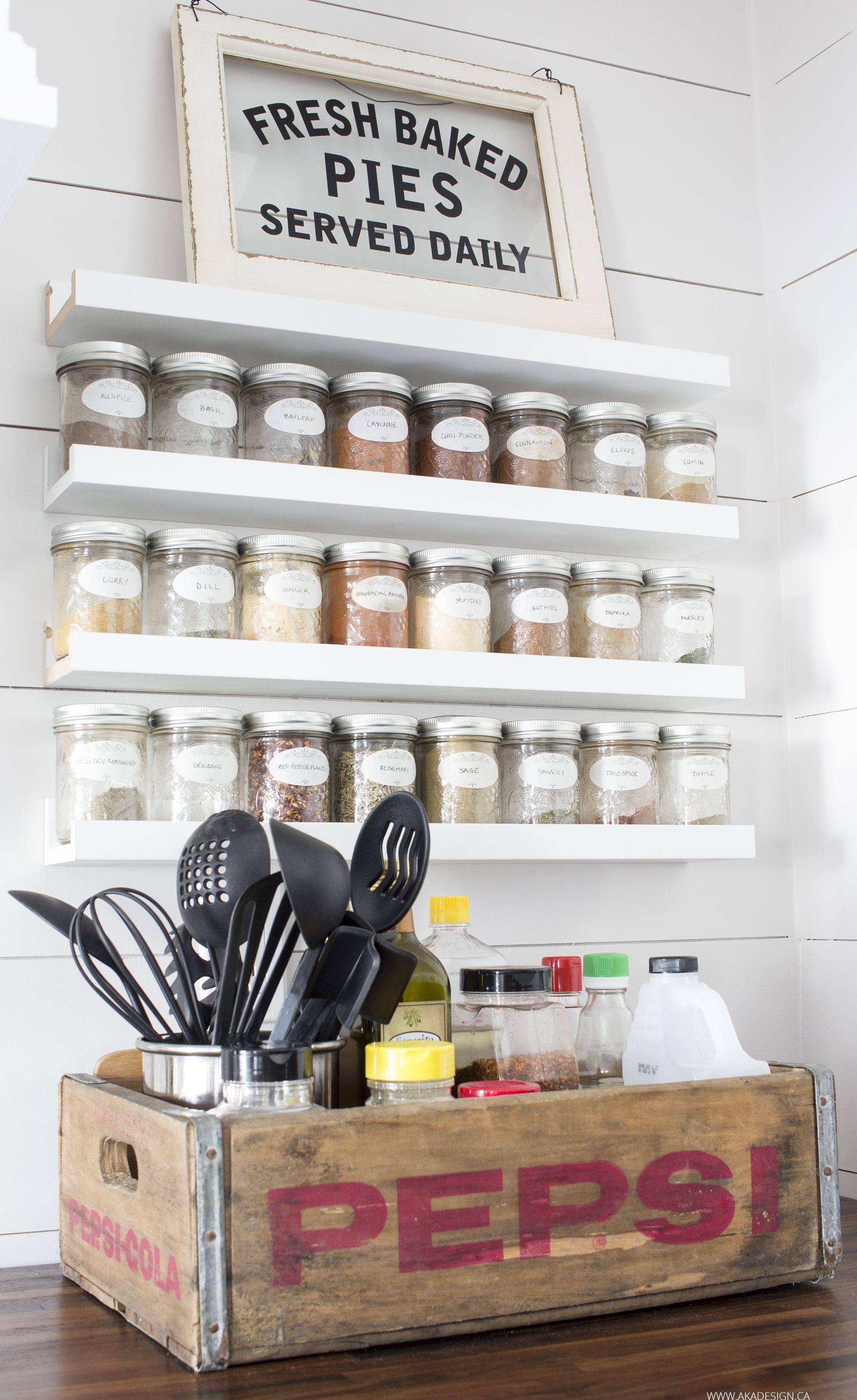 Our Modern Farmhouse Kitchen Makeover Small Kitchen Storage