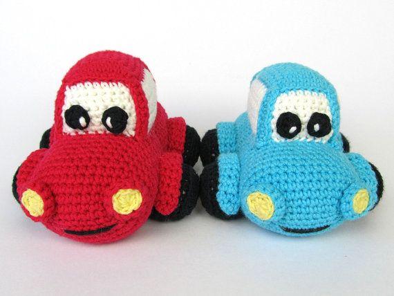 Amigurumi For Dummies Book : Happy car amigurumi crochet pattern pdf e book soft toy carros
