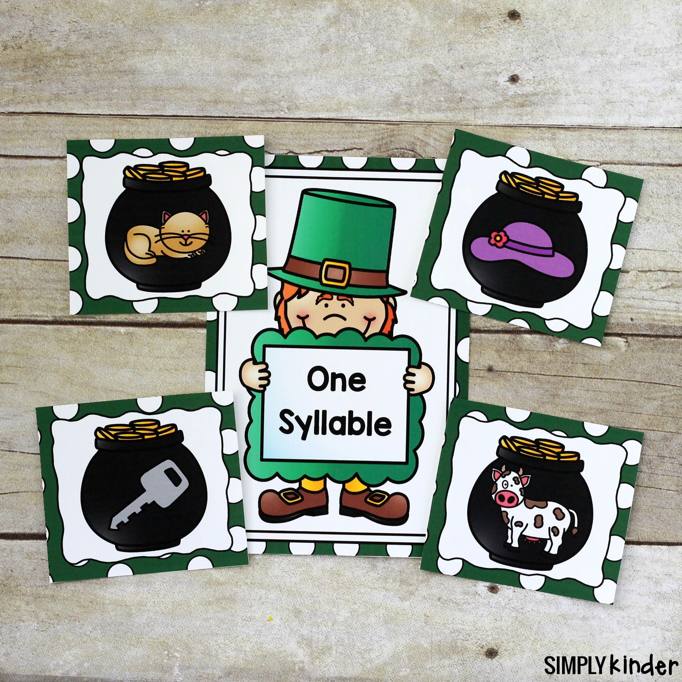 Pot Of Gold Syllable Sort Activity